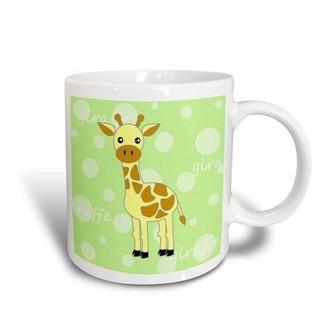 Green Baby 3dRose Giraffe, Ceramic Mug, 15-ounce