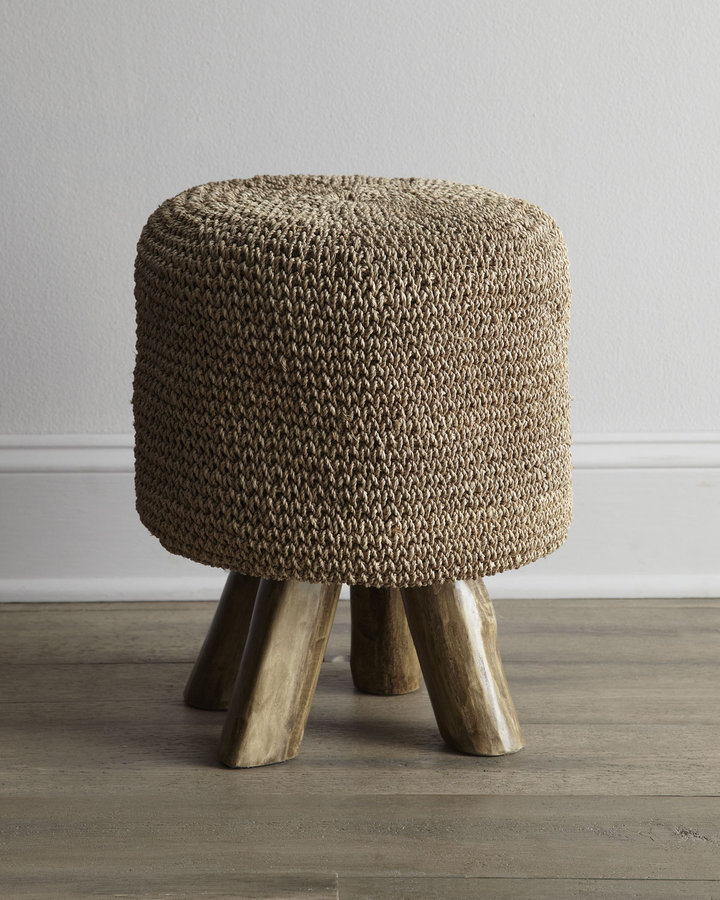 Horchow Woven Footstool