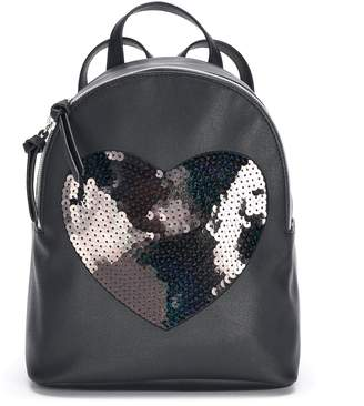 T-Shirt & Jeans T Shirt & Jeans Sequin Heart Backpack