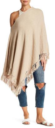 Minnie Rose Diamond Stitch Jacquard Poncho $187 thestylecure.com