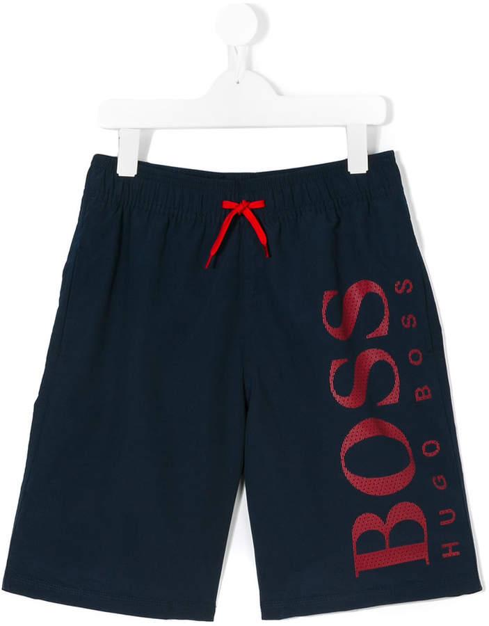 Boss Kids logo swimming shorts