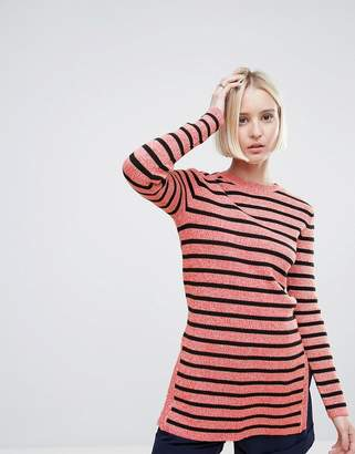 Ganni Michi Rib Striped Long Sweater
