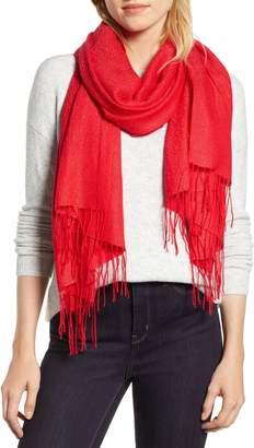 Nordstrom Metallic Wool Blend Scarf