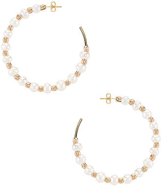 Child of Wild Iah Pearl Hoop Earrings