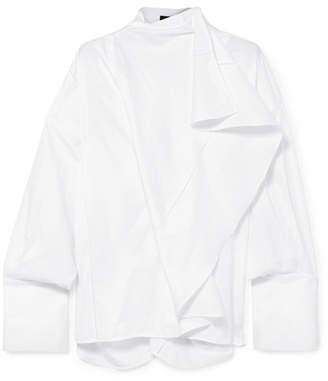 Ellery Richter Convertible Draped Cotton-poplin Shirt