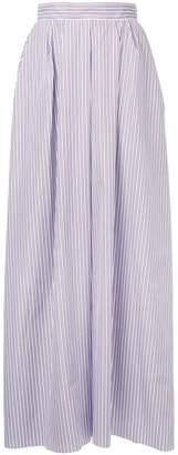 Rochas long striped skirt