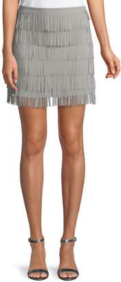 Show Me Your Mumu Moss Fringed Mini Skirt