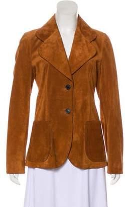 Prada Suede Long Sleeve Jacket