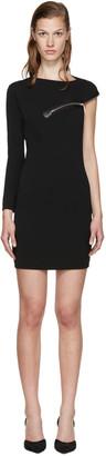 Dsquared2 Black Wool Jersey Zip Dress $960 thestylecure.com