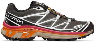 Salomon Black and Grey S/Lab XT-6 Softground ADV Sneakers