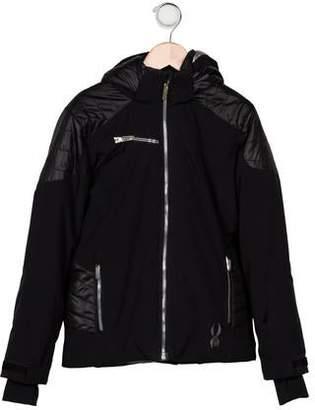 Spyder Boys' Hooded Zip Front Coat