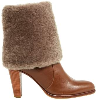 Michel Perry Brown Leather Ankle boots