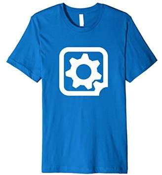 Gear Box Gearbox Icon Tee - Jewel Colors with White Logo - for devs