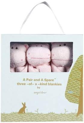 Angel Dear Pair and a Spare 3 Piece Blanket Set, Hippo by