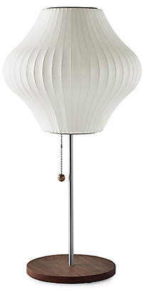 Design Within Reach Herman Miller Nelson Pear Table Lamp, Walnut Base, White at DWR