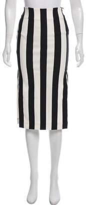 Land of Distraction Circus Stripe Pencil Skirt