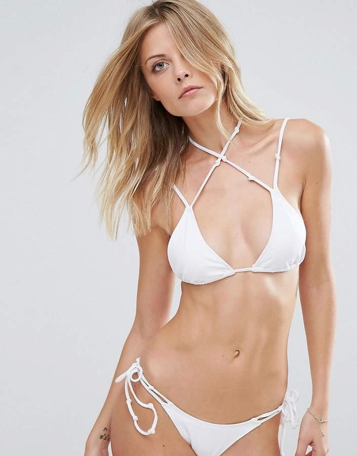 Minimale Animale White Triangle Bikini Top