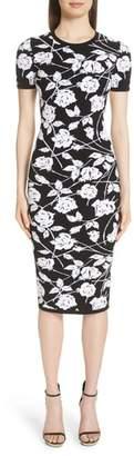Michael Kors Stencil Rose Jacquard Dress