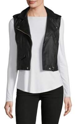 IRO Cropped Leather Vest