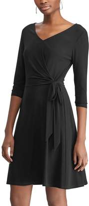 Chaps Women's Solid Fit & Flare Dress