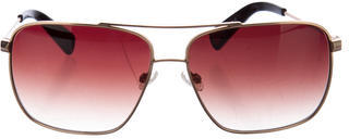 Paul Smith Squared Aviator Sunglasses $75 thestylecure.com