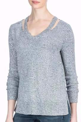 Lilla P Grey Cutout Sweater