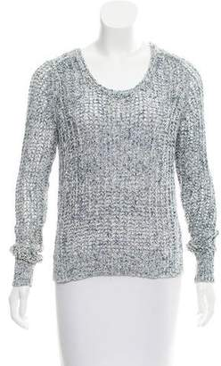 White + Warren Open-Knit Long Sleeve Sweater