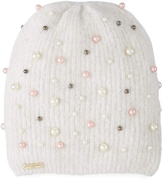 Karl Lagerfeld Metallic and Pearly Beanie