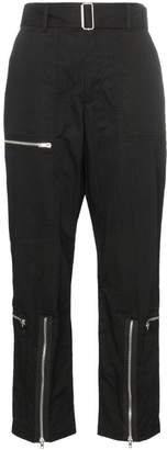 Helmut Lang high-waisted zip detail trousers