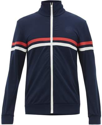 Iffley Road Petersham Striped Jersey Track Top - Mens - Navy