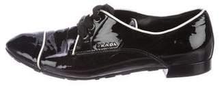 Prada Sport Patent Cap-Toe Oxfords
