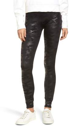 Spanx R) Camo Faux Leather Leggings