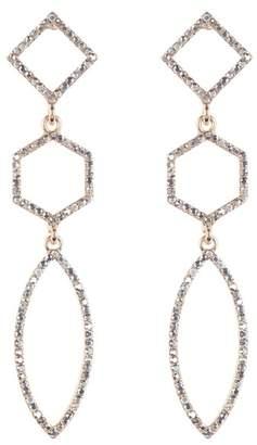 Panacea Crystal Linear Earrings