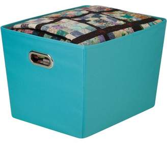 Honey-Can-Do Medium Decorative Storage Bin with Handles, Multicolor