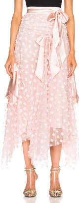 Rodarte Embroidered Bow Skirt in Pink | FWRD