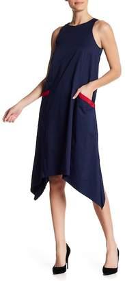 Badgley Mischka Cotton Trapeze Dress