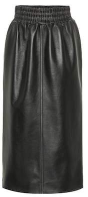 Miu Miu Leather midi skirt