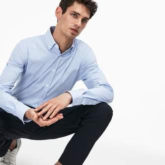 Lacoste Men's Slim Fit Striped Stretch Cotton Poplin Shirt