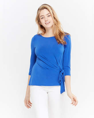 Premise Blue Side Tie Accent Shirt