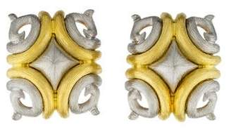 Henry Dunay Two-Tone Clip-On Earrings