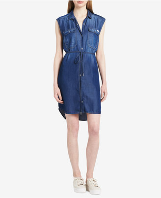 Calvin Klein Jeans Sleeveless Denim Shirtdress $79.50 thestylecure.com