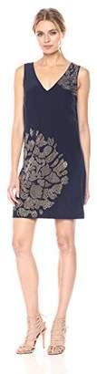 Trina Turk Women's Giltterati Sleeveless Silk Crepe De Chine Embellished Dress
