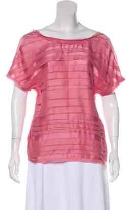 Chanel Ruffled Silk Top