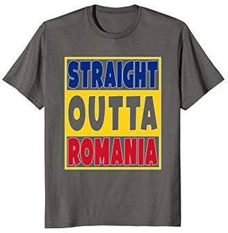 Straight Outta Romania T-Shirt Funny Gift