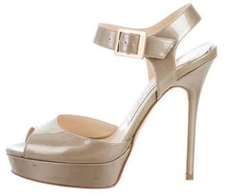 Jimmy Choo Patent Leather Platform Sandals