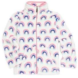 Hatley Little Girl's& Girl's Fleece Rainbow Jacket