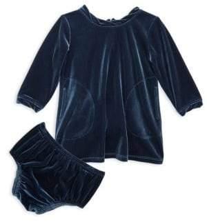 Splendid Baby's Two-Piece Velour Bloomers & Dress Set