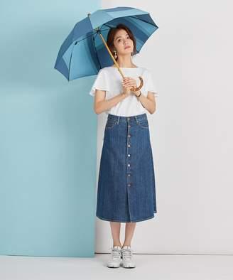 Ring + 【限定/日本製】晴雨兼用傘(長ショート)シャンブレーBLU SR207(C)FDB
