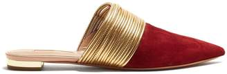 Rendez Vous point-toe backless loafers