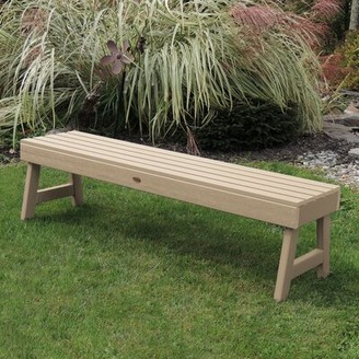Darby Home Co Trigg Backless Synthetic Wood Picnic Bench Darby Home Co